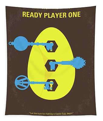 No929 My Ready Player One Minimal Movie Poster Tapestry