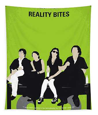 No938 My Reality Bites Minimal Movie Poster Tapestry