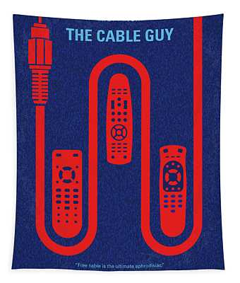 No948 My The Cable Guy Minimal Movie Poster Tapestry