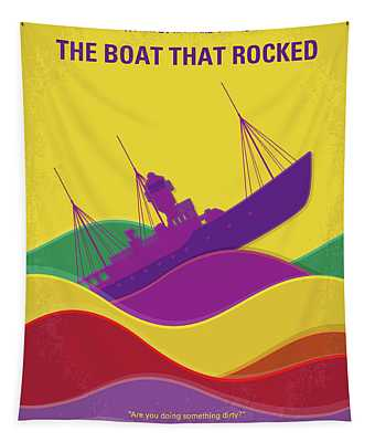 No961 My The Boat That Rocked Minimal Movie Poster Tapestry