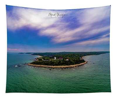 Nobska Lighthouse Panorama Tapestry