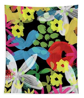 Nocturnal Garden- Art By Linda Woods Tapestry