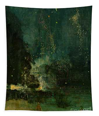 Nocturne In Black And Gold - The Falling Rocket Tapestry
