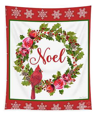 Noel Wreath Tapestry