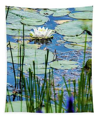 North American White Water Lily Tapestry