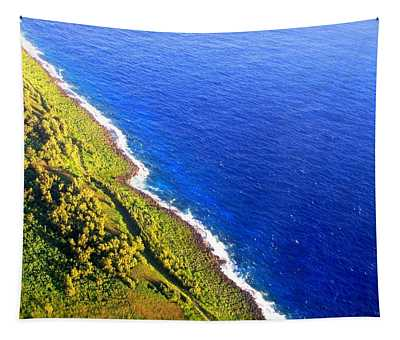 North Coast Of Tinian At Sunrise Tapestry