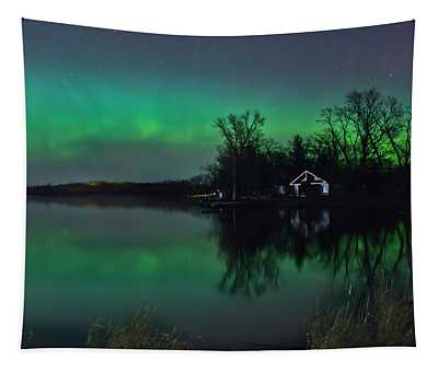 Northern Lights At Gull Lake Tapestry
