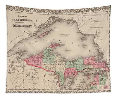 Northern Michigan And Lake Superior Tapestry