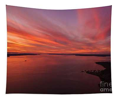 Northwest Searing Sunset Palette Tapestry