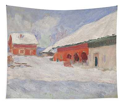 Norway, Red Houses At Bjornegaard, 1895 Tapestry