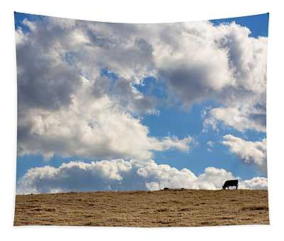 Not A Cow In The Sky Tapestry