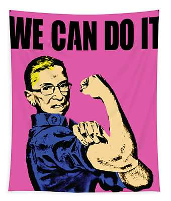 Notorious Rbg Ruth Bader Ginsburg We Can Do It Pop Art Tapestry