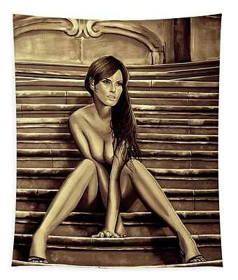 Nude City Beauty Sepia Tapestry