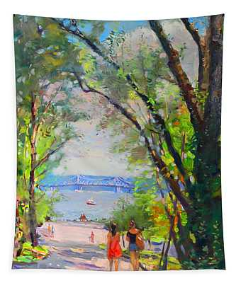 Nyack Park A Beautiful Day For A Walk Tapestry