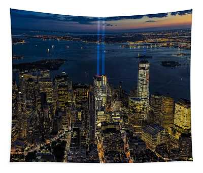 Nyc 911 Tribute In Lights Tapestry