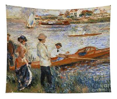Oarsmen At Chatou Tapestry