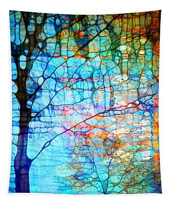 Obscured In Blue Tapestry