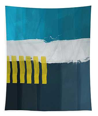 Ocean Front Walk 2- Art By Linda Woods Tapestry