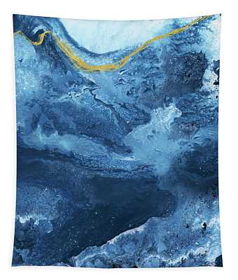 Ocean Gold- Abstract Art By Linda Woods Tapestry