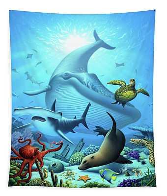 Ocean Life Tapestry