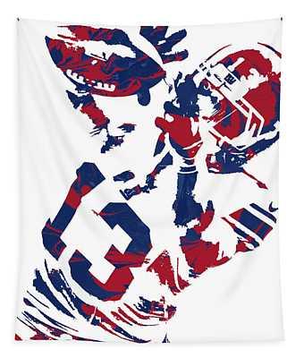 Odell Beckham Jr New York Giants Pixel Art 5 Tapestry