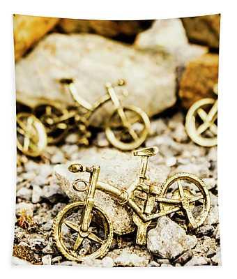 Off Road Bike Trinkets Tapestry
