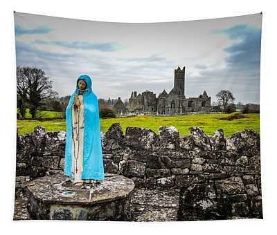 Official Greeter At Ireland's Quin Abbey National Monument Tapestry