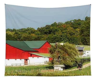 Ohio Amish Farm Tapestry