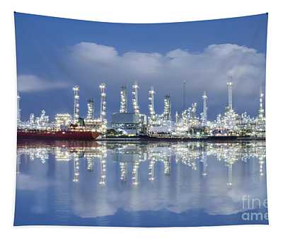 Oil Refinery Industry Plant Tapestry