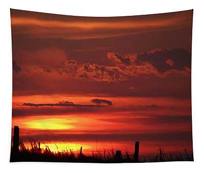 Tapestry featuring the digital art Oklahoma Sky At Daybreak  by Shelli Fitzpatrick