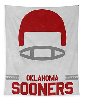 Oklahoma Sooners Vintage Football Art Tapestry