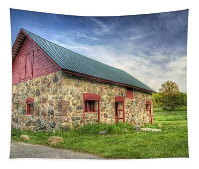 Old Barn At Dusk Tapestry
