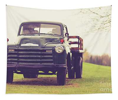 Old Chevy Farm Truck In Vermont Tapestry