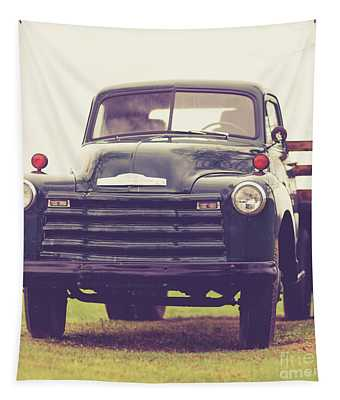 Old Chevy Farm Truck In Vermont Square Tapestry