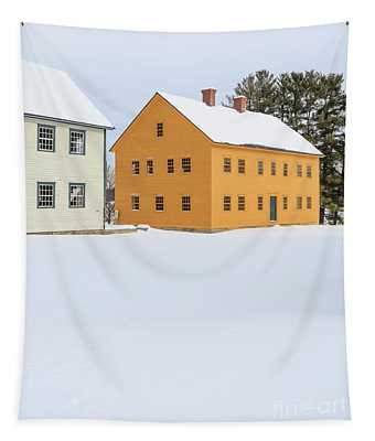 Old Colonial Wood Framed Houses In Winter Tapestry