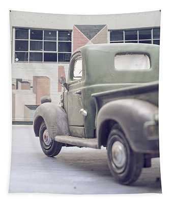 Old Delivery Truck Tapestry