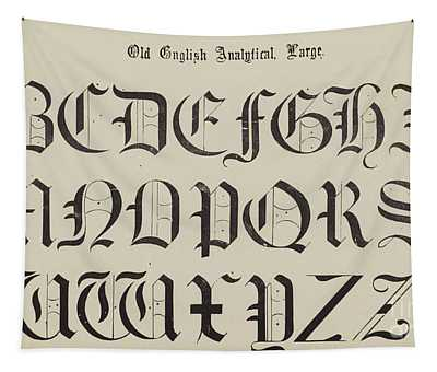 Old English Font Tapestry