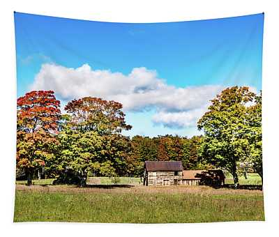 Old Farm House Tapestry
