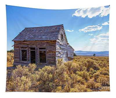 Old Farm House Widtsoe Utah Ghost Town Tapestry