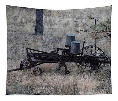 Old Farm Implement Lake George Co Tapestry
