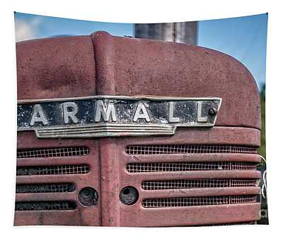 Old Farmall Tractor Grill And Nameplate Tapestry