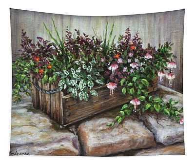 Old Flower Box Tapestry