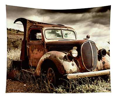 Old Ford Truck In Desert Tapestry