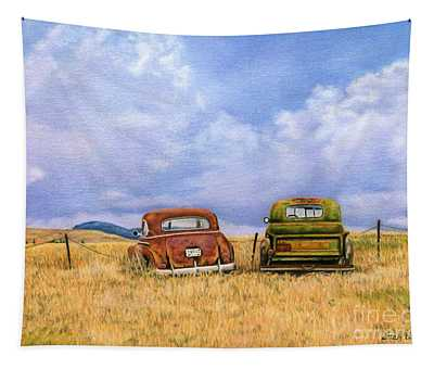 Two Old Friends  Tapestry