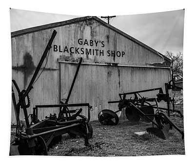 Old Frisco Blacksmith Shop Tapestry