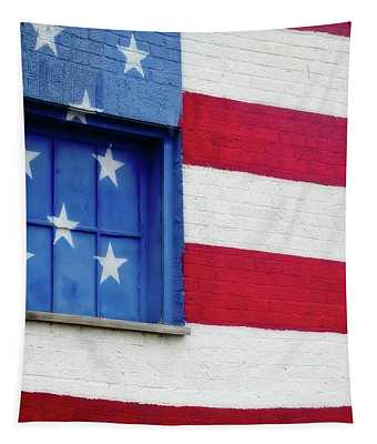 Old Glory, American Flag Mural, Street Art Tapestry