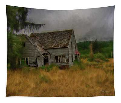 Old House On The Prairie Tapestry