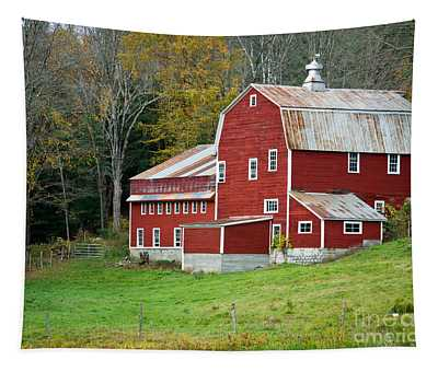Old Red Vermont Barn Tapestry