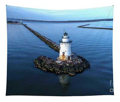 Old Saybrook Outer Lighthouse Tapestry