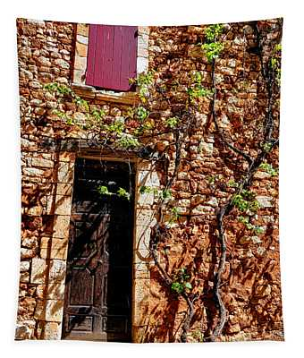 Old Stone House In Provence Tapestry